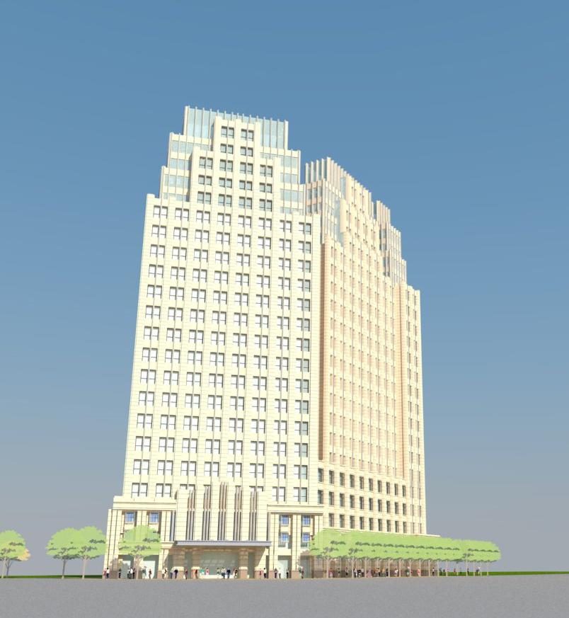 高层办公楼立面设计——新古典主义风格