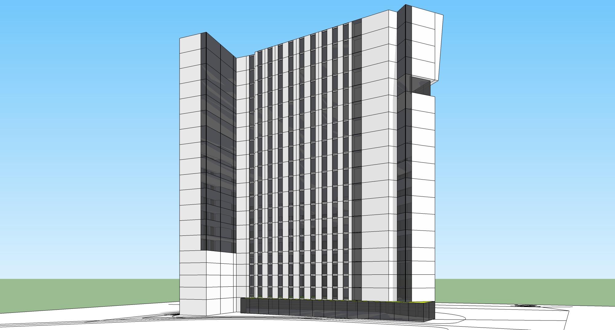 高层办公楼立面设计-投标鉴赏-设计群网
