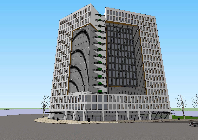 高层办公楼立面设计3718号方案