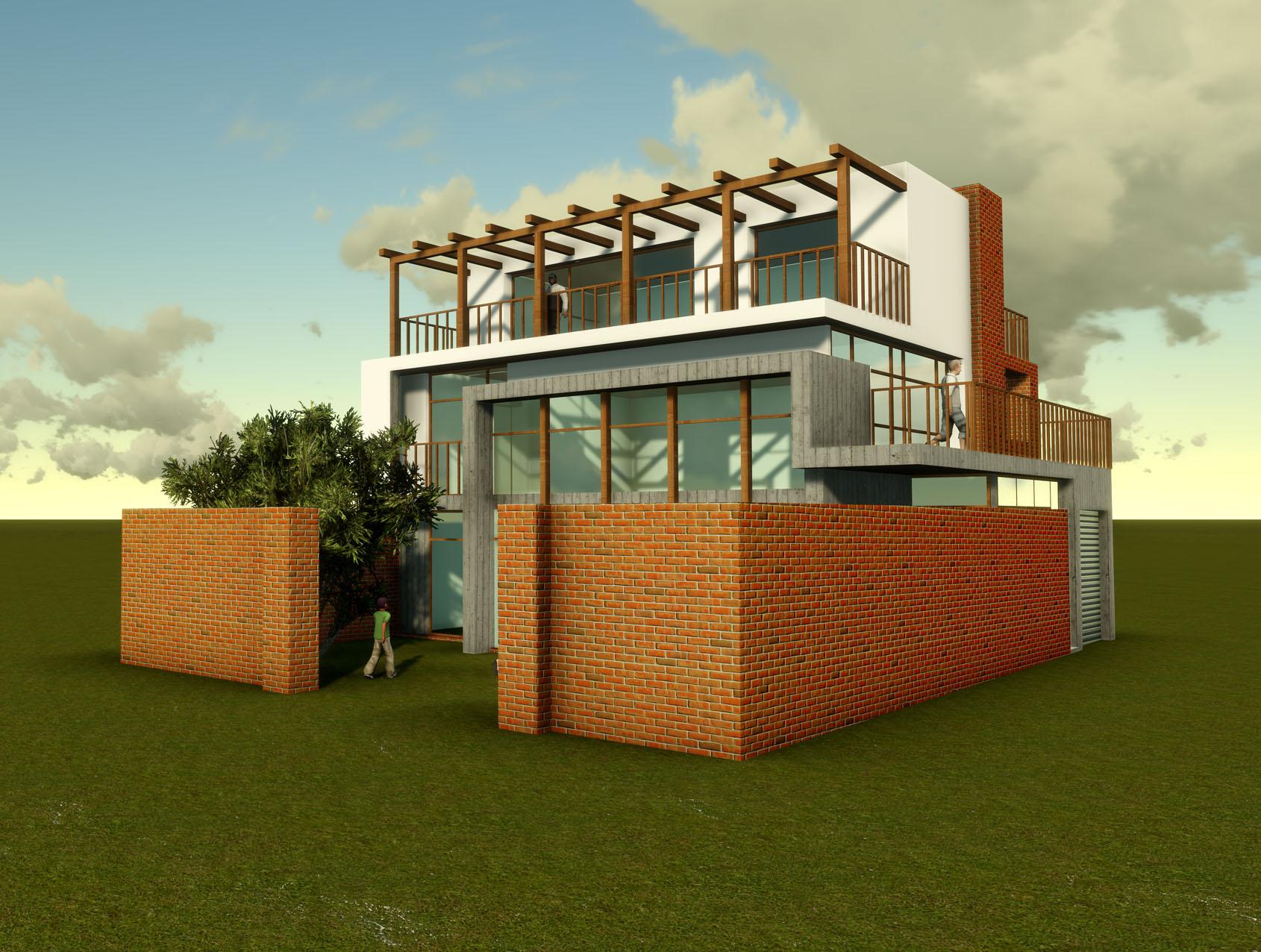 19509号自建房设计效果图绿色建筑设计  设计说明: 方案风格为现代