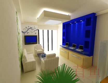40平米办公室装修设计含平面 效果及施工图设计